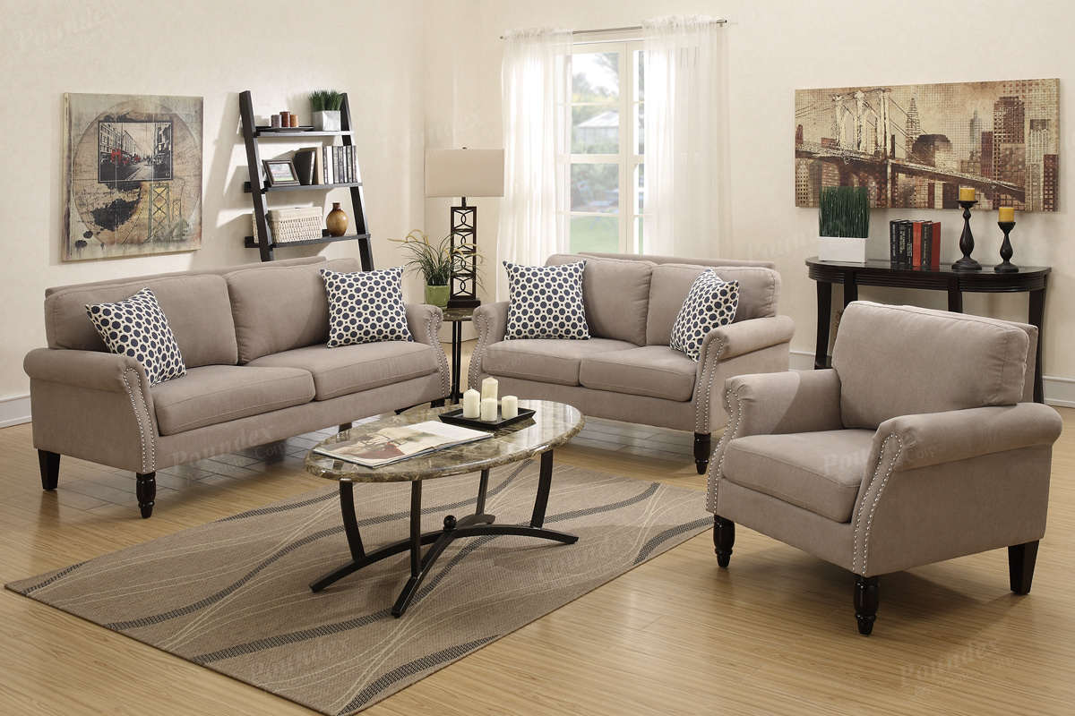 Leonor 3pc Sofa Set